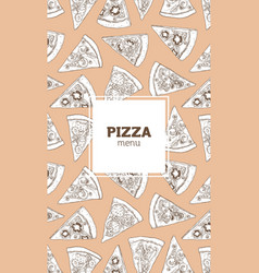 vertical flyer poster or menu template with pizza vector image