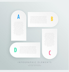 White infographic steps presentaion template vector