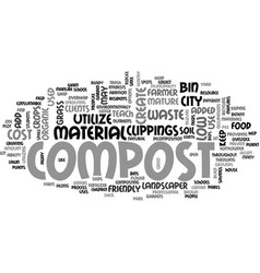 Who should compost text word cloud concept vector