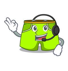 With headphone fashion short pants isolated on vector