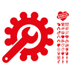 Wrench and gear customization tools icon with vector