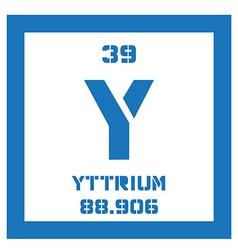 Yttrium chemical element vector