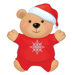 bear santa claus vector image