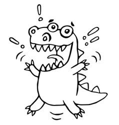 Cartoon lucky dragon vector