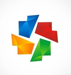 circle shape color abstract logo vector image