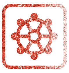 Cog framed textured icon vector