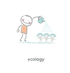 Eco people vector image vector image