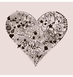 Natural heart2 vector image