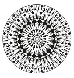 round ethnic ornament mandala can be used for vector image