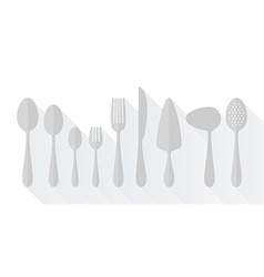 Set of flat icons cutlery vector image vector image