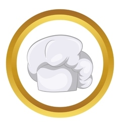 White chef hat icon vector image vector image