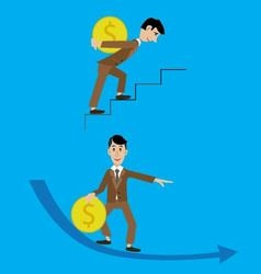 abstraction people and money vector image vector image