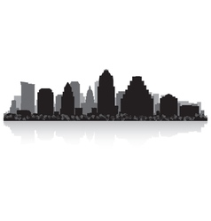 Austin USA city skyline silhouette vector image vector image