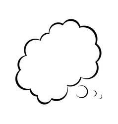 cartoon bubble comic speech chat cloud think vector image