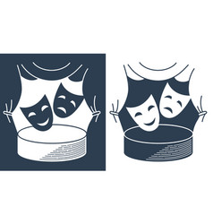 concept theater in the form of theatrical masks vector image vector image