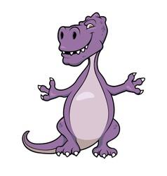 Cute cartoon dinosaur vector image