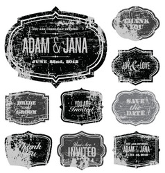 ornate stickers vector image