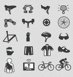 Bike icon set vector image vector image