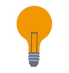 Bulb lamp creative business on white background vector