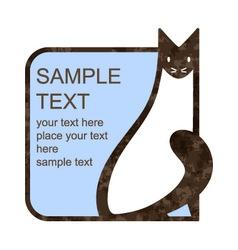 Cat emblem vector image vector image