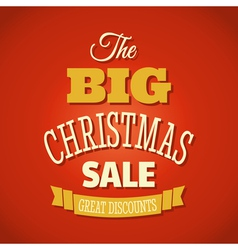 Christmas sale 2013 retro style poster design vector image