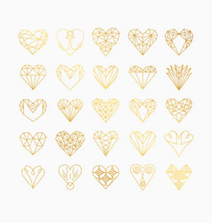 Line icons of heart vector