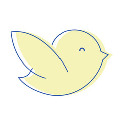 Natural bird dove animal with wing vector