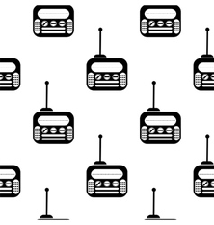 Retro Old Radio Icon Seamless Pattern vector image vector image