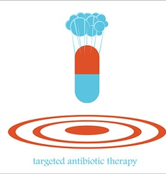 targeted antibiotic therapy bomb concept vector image