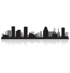 Baltimore USA city skyline silhouette vector image vector image
