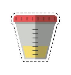 cartoon container sample laboratory icon vector image vector image