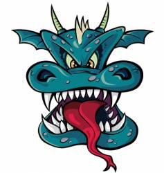 dragon head vector image