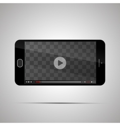 Mock up of realistic glossy smartphone with vector