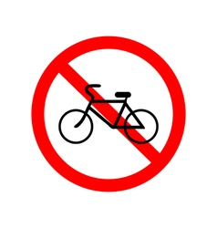 No bicycle bike prohibited symbol vector image