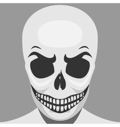 Scary Skeleton Monster for Halloween vector image