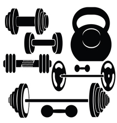 silhouettes of weights vector image