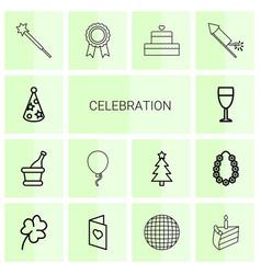 14 celebration icons vector
