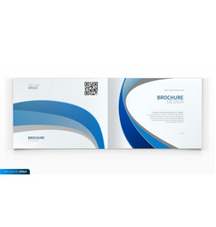 a4 brochure cover design blue business report vector image