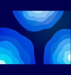 abstract blue waves circle background vector image