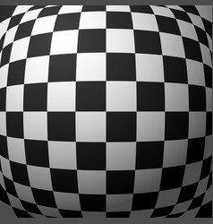 Abstract checkered pattern with bulging vector