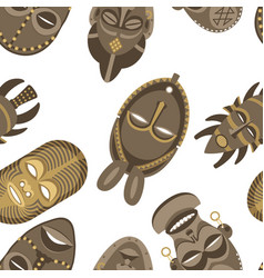 African masks pattern vector