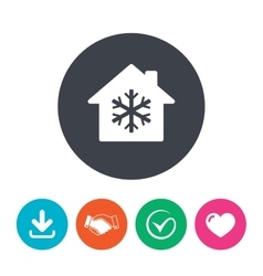 Air conditioning indoors icon Snowflake sign vector image