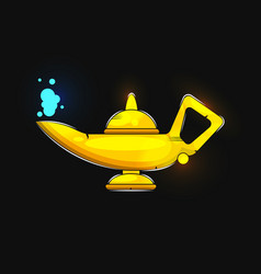 Alladin lamp silhouette suitable for greeting vector
