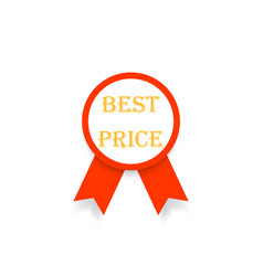 best price emblem with ribbon on white background vector image