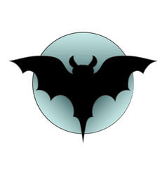 black silhouette of bat picture on a theme of vector image