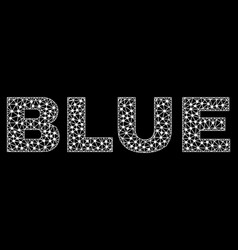 Blue text in polygonal mesh style vector