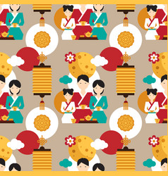 bright pattern dedicated to the chinese festival vector image