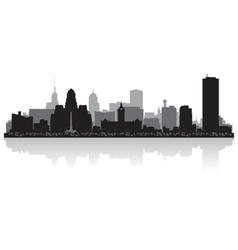 Buffalo USA city skyline silhouette vector