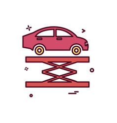 Car lifter repairing icon design vector
