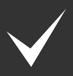 check mark white on dark gray background vector image